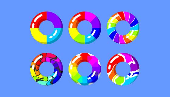 彩虹圈圈矢量素材(EPS/SVG)
