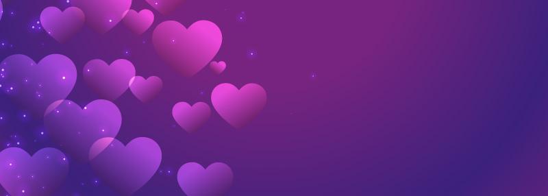 紫色爱心情人节背景矢量素材(EPS)
