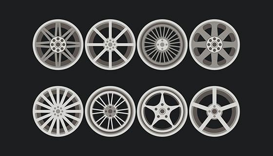 汽车轮毂矢量素材(EPS/SVG)