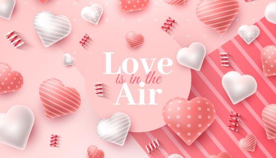 创意爱心情人节背景矢量素材(AI/EPS)