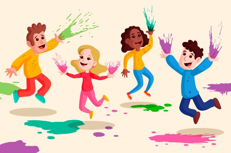 快乐涂鸦的人们矢量素材(AI/EPS)