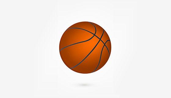 真实的篮球矢量素材(EPS/AI)