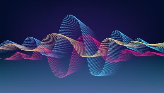 多彩波浪壁纸/背景矢量素材(AI/EPS)