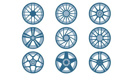 汽车轮毂矢量素材(eps/ai/svg)