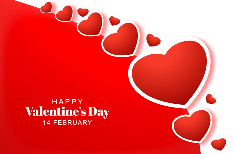 创意红色爱心情人节贺卡矢量素材(EPS)