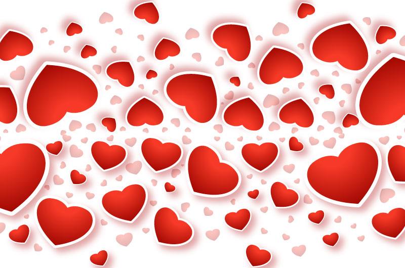 可爱红色爱心情人节贺卡矢量素材(EPS/免扣PNG)