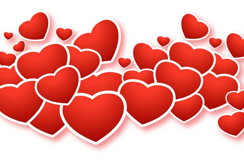 红色爱心情人节贺卡矢量素材(EPS/免扣PNG)