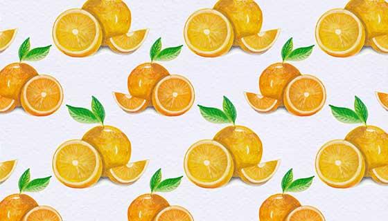 橙子图案背景矢量素材(EPS)