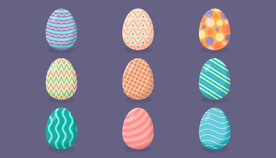 各种各样的复活节彩蛋矢量素材(AI/EPS/PNG)