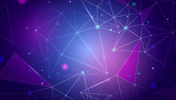 抽象粒子科技背景矢量素材(AI/EPS)