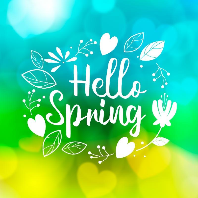 多彩模糊的春天背景矢量素材(AI/EPS)