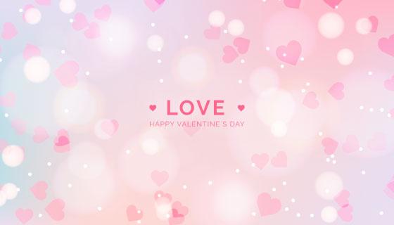 粉色爱心模糊情人节背景矢量素材(AI/EPS)