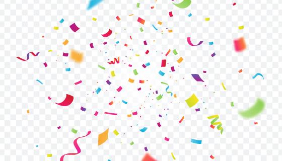 逼真的五彩纸屑背景矢量素材(AI/EPS/PNG)