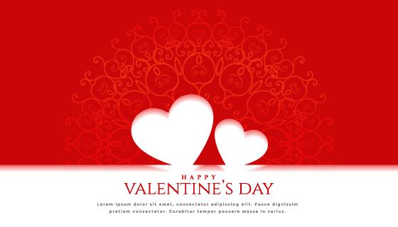 创意爱心设计情人节卡片矢量素材(EPS)