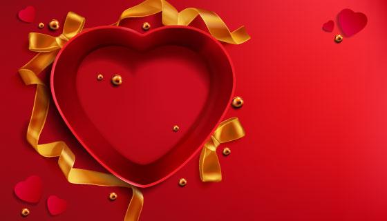 爱心礼盒矢量素材(EPS)