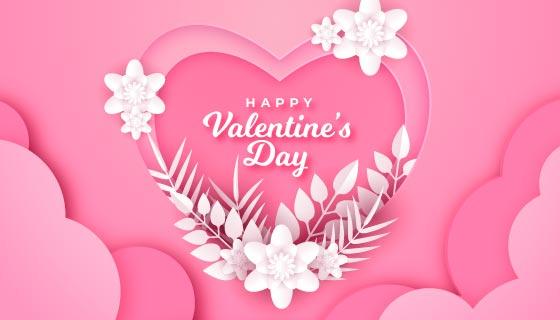爱心和水晶情人节背景矢量素材(AI/EPS)