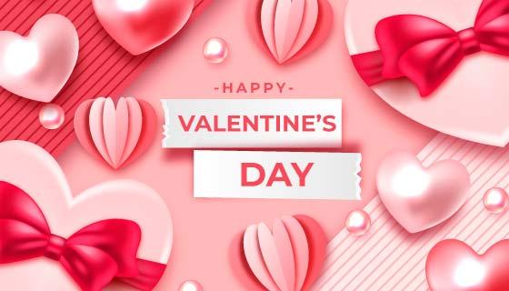 各种各样的爱心情人节背景矢量素材(AI/EPS)