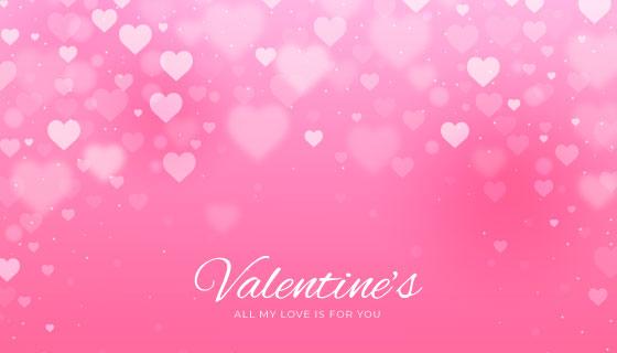 模糊的爱心情人节背景矢量素材(AI/EPS)