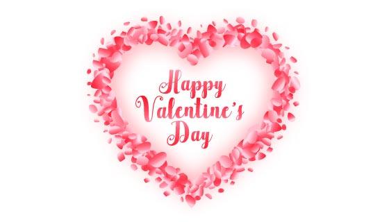 玫瑰花瓣爱心情人节卡片矢量素材(EPS)