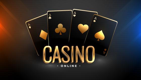 黑金扑克牌赌场背景矢量素材(EPS)