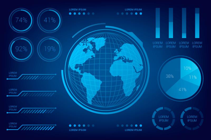 科技数据图表矢量素材(AI/EPS)