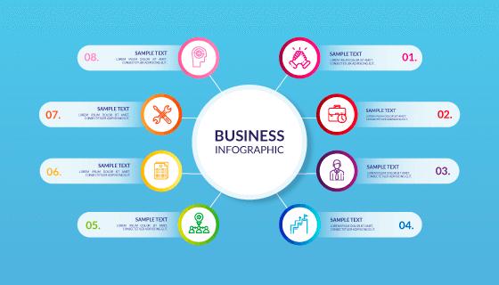 专业的商务信息图表矢量素材(AI/EPS)