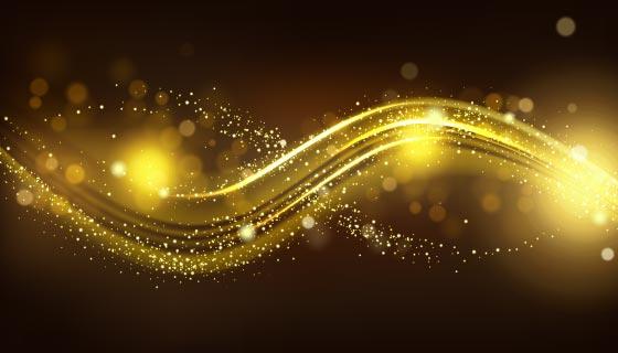 金光闪闪的波浪背景矢量素材(EPS)