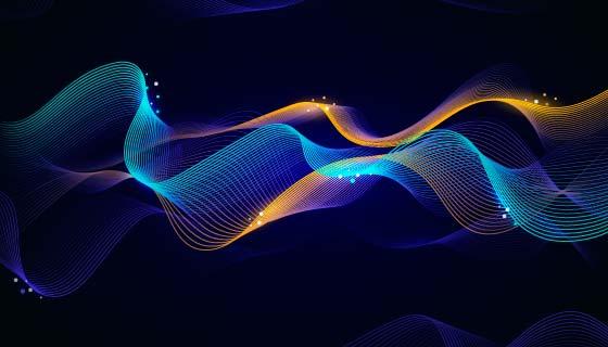 抽象多彩波浪背景矢量素材(AI/EPS)