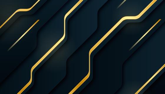 优雅高贵的金色线条背景矢量素材(AI/EPS)