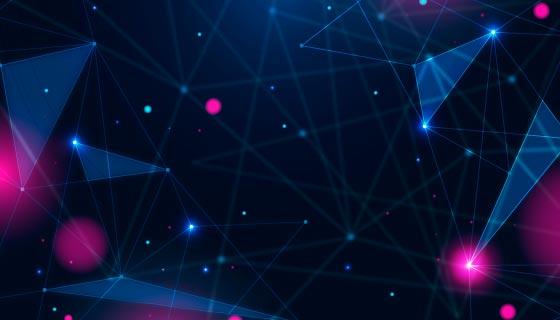 抽象现实技术粒子背景矢量素材(AI/EPS)