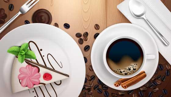 美味糕点和咖啡矢量素材(EPS)