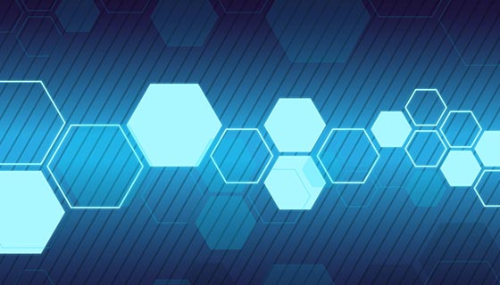 蓝色几何科技背景矢量素材(EPS)