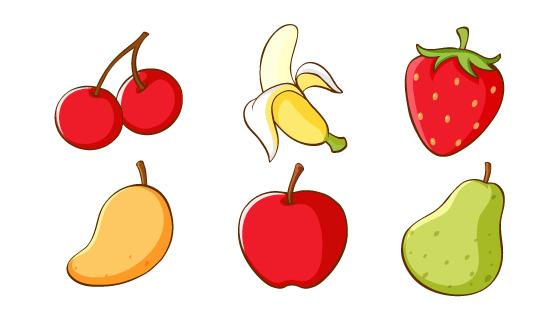 6种手绘逼真水果矢量素材(EPS/PNG)