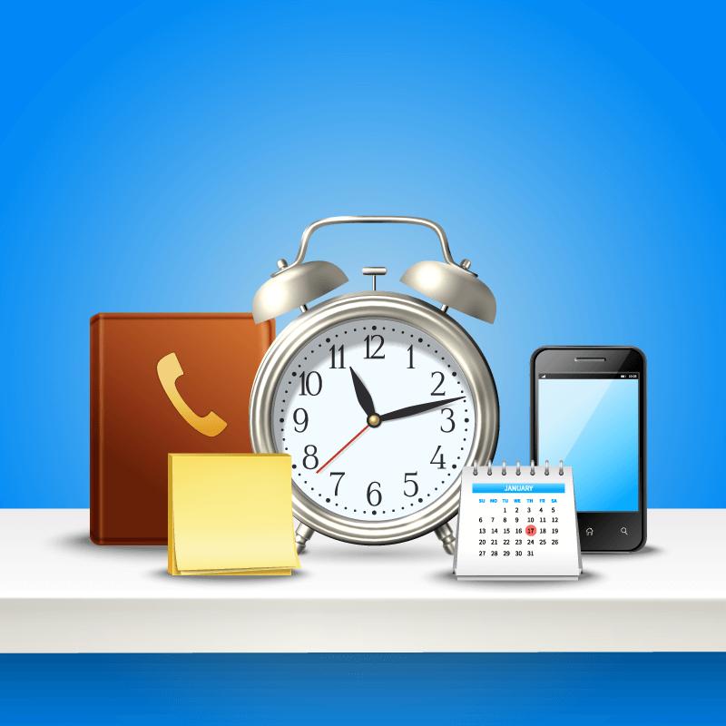 各种时间管理工具矢量素材(EPS)