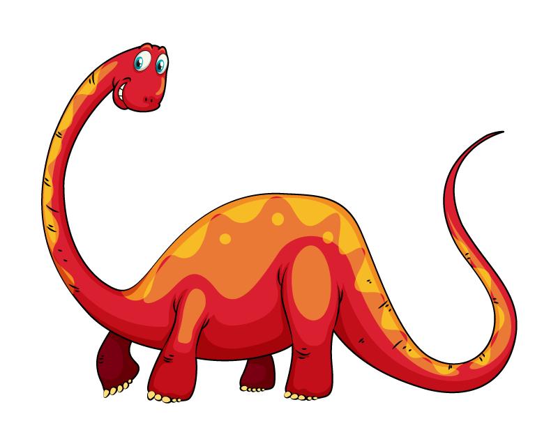 手绘可爱恐龙矢量素材(EPS/免扣PNG)