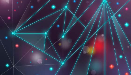 抽象科技粒子背景矢量素材(AI/EPS)