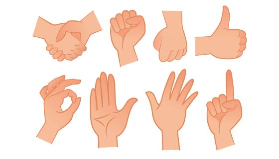 各种各样的手势矢量素材(EPS/PNG)
