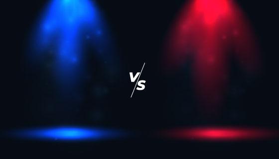红方VS蓝方矢量素材(EPS)