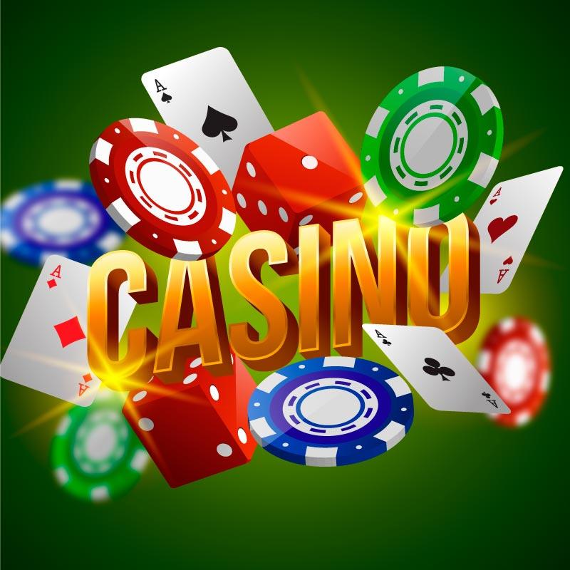 赌场扑克牌骰子筹码矢量素材(AI/EPS)