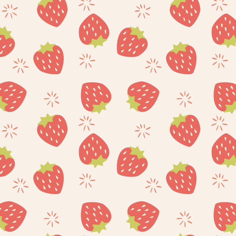 草莓图案背景矢量素材(EPS)
