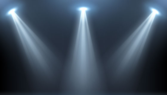 聚光灯照亮的舞台矢量素材(EPS)