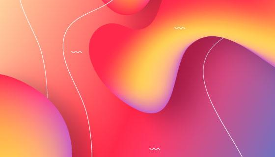 抽象多彩的流体形状背景矢量素材(AI/EPS)