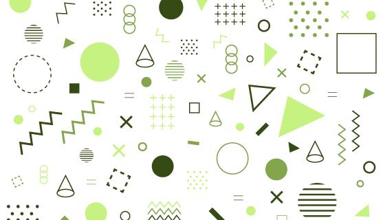 几何形状孟菲斯风格背景矢量素材(AI/EPS/PNG)