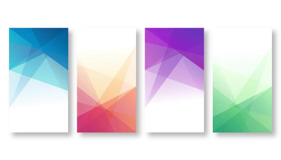四张抽象手机壁纸矢量素材(EPS)