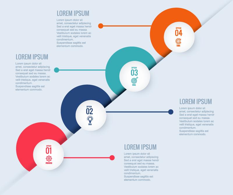 圆形设计信息图表矢量素材(EPS)