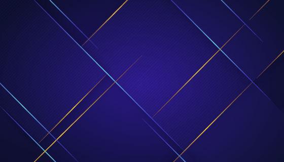金色线条蓝色抽象背景矢量素材(AI/EPS)