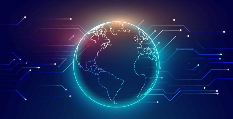 连接全球科技背景矢量素材(EPS)