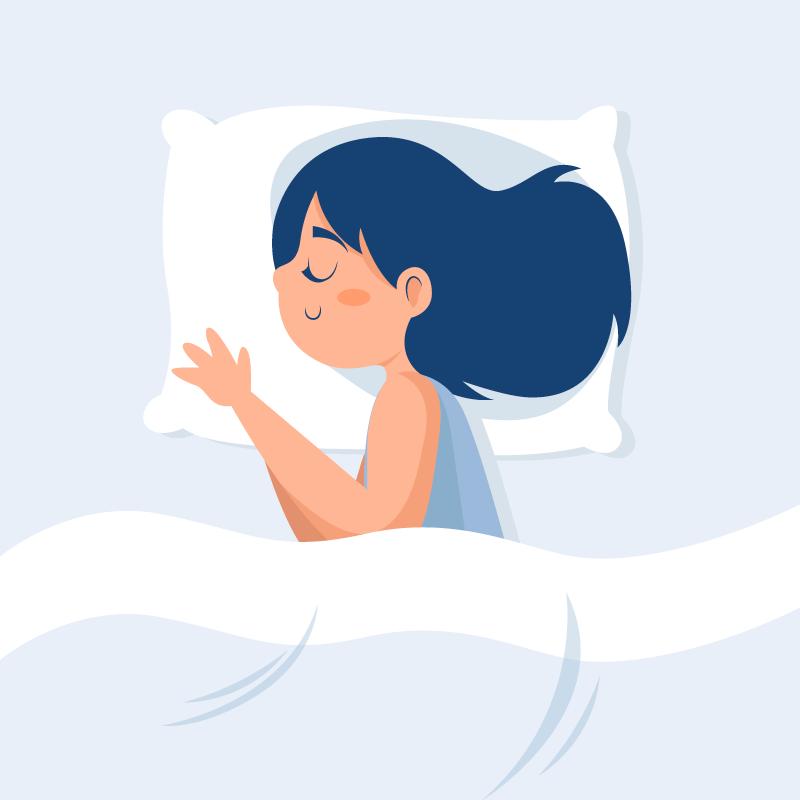正在睡觉的女孩矢量素材(AI/EPS)