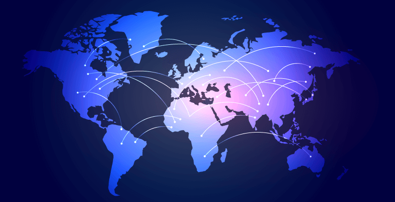 全世界互联通信科技背景矢量素材(EPS)