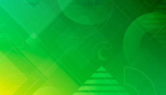 抽象绿色几何背景矢量素材(AI/EPS)